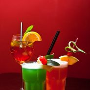 Tres cocteles sin alcohol