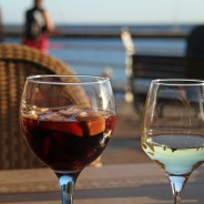 Prepara Tragos de vino tinto con frutas