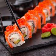 Rolls de Sushi como pasapalos